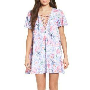 Show Me Your Mumu Kylie Poppy Daze Lace-up Dress